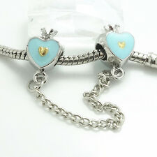 1pcs Silver heart  European Charm BeadS Fit 925 Necklace Bracelet jewelry #6