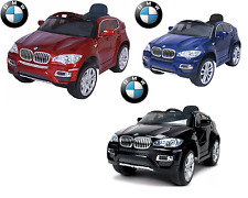 KIDS RIDE ON CAR TWIN MOTOR BMW X6 Remote PARENTS CONTROL RUBBER WHEELS +Lacquer