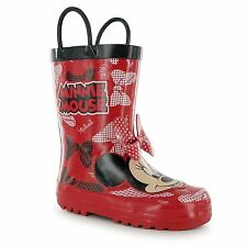 Disney Minnie Mouse Wellington Boots Childs Red Wellies Welly Gum Boot