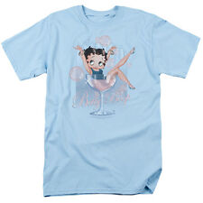 Betty Boop Sitting in PINK CHAMPAGNE Glass Bubbles Licensed T-Shirt All Sizes