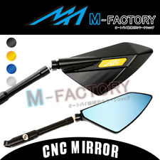CNC 10mm Universal Dagger Rearview Side Mirrors For BMW