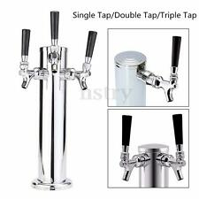 Stainless Steel 1/2/3 Tap Beer Faucet Draft Tower Bar Homebrew For Kegerator AU