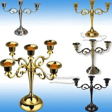 2017 3 Arm 5Arm Wedding Table Dinner Candle Holder Sticks Candlesticks Antique