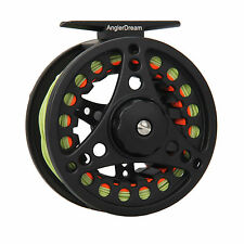 Fly Reel and Line Combo 1/2/3/4/5/6/7/8WT Large Arbor Aluminum Fishing Reel
