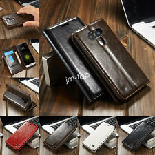 Luxury Genuine Leather Flip Wallet Case Cover For Apple/Samsung/Huawei/Sony/LG