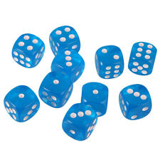 Pack of 10pcs Six Sided 16mm D6 Dices for D&D Casino Poker Dice Guessing Games