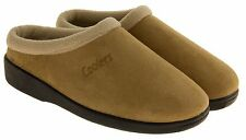 Mens Coolers Faux Suede Slippers Faux Fur Lined Slip On Comfort Slipper Size 8