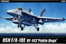 Academy Aircraft 1/72 Scale Plastic Model Kit USN F/A-18E Pukin Dogs #12547