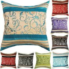 ALTA Embroidered Faux Silk Cushion Cover Optional Inner Square Pillow Cover