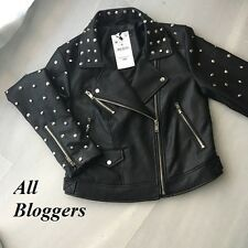 ZARA �� NEW SS17 FAUX LEATHER JACKET WITH METALLIC DETAILS �� XS-L  �� 3046/025