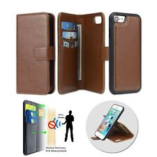 Luxury Leather Wallet Stand Case RFID Card Slots Phone Cover for iPhone 7 7Plus