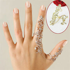 Women Rings Multiple Finger Stack Knuckle Band Crystal Ring Set Fashion Jewelry