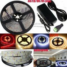 Super Bright 5M SMD 5630 300Leds Waterproof Flexible Light Strip DC 12V 5A Power