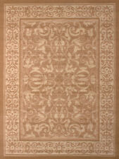 Beige Traditional-Persian/Oriental Floral Area Rug Vines Petals Buds Carpet
