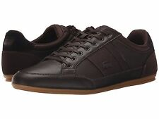 Men's Shoe Lacoste Chaymon 116 1 Leather Sneaker 7-31SPM0080257 Dark Brown *New*