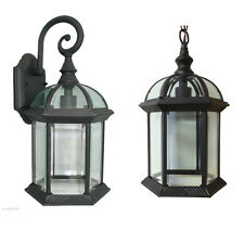 Aluminum Outdoor Exterior Lantern Wall Lighting Fixture Black Sconce Hanging