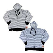 New with Tags, Mens, Older Boys Stripe Hoodie, Hooded Jumper, 2 Shades, S, 2XL