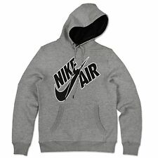 Nike Air Max Swoosh Hoodie Fleece Hooded Sweater Hoody Sweatshirt Gray