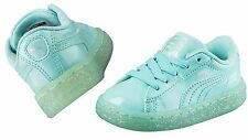 PUMA Toddlers/infants BASKET PATENT ICED GLITTER ARUBA BLUE 362467-03