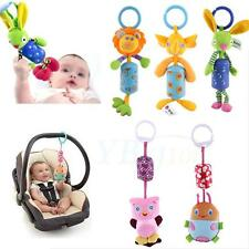 Cute Baby Infant Rattles Plush Animal Stroller Hanging Bell Toy Doll Soft Bed