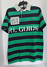 POLO by RALPH LAUREN - Striped RL Guide Rugby Shirt - Navy / Green