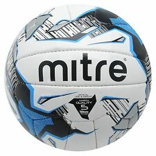 Mitre Ultimatch Football White/Blue Replica Soccer Ball