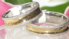 STR291 4MM OR 6MM MENS WOMENS WEDDING BAND 18KT RING  GOLD  STAINLESS STEEL