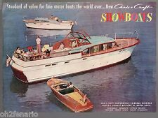 Vintage 1957  Print AD Chris-Craft Showboats Cruiser Runabout Yacht