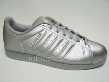 Adidas Superstar Metallic Silver Grey White Mens Shell Toe Trainers BB1461