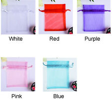 100PCS Sheer Organza Wedding Party Favor Decor Gift Candy Bags Jewelry Pouches