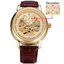 Sewor Mechanical Gents Wrist Automatic Fashion Skeleton Casual Mens Watch 633-2