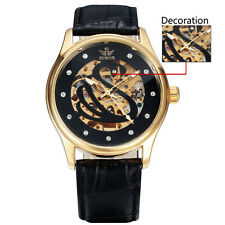Sewor Mens Casual Mechanical Automatic Skeleton movement Fashion gents Watch 125