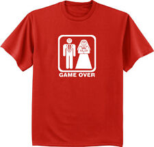 Men's t-shirt funny saying wedding marriage game over tuxedo bachelor party gift