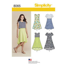 Simplicity 8065 | Girls' & Girls' Plus Dress or Popover Dress Sewing Pattern