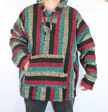 3XL Hoodie Baja Hippie Surfer Skater Mexican Poncho Sweater