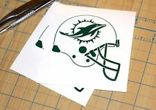 Miami Dolphins Sticker | SET OF TWO | Miami Dolphins Helmet Decal