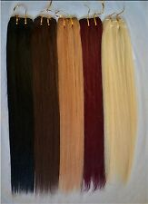 100g 16''~26'' No Clips Hair Weft Weaving Real Human Hair Extensions Any Colors
