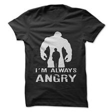 I'm Always Angry - Funny T-Shirt Short Sleeve 100% Cotton Hulk Marvel Comics
