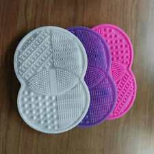 Silicone Makeup Brush Cleaner Cleaning Cosmetic Scrubber Board Mat Hand Tool A2