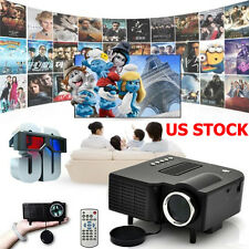 Mini 1080P LED Multimedia Projector Full HD Home Theater Cinema TV USB HDMI PC
