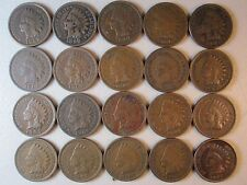 20 INDIAN HEAD IH PENNIES CENTS COLLECTION LOT OLD RARE ANTIQUE COINS