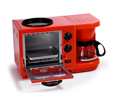 New Breakfast Maker, Toaster Oven, Coffeemaker for Kitchen Dorm 3-in-1 Griddle