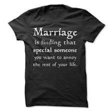 Marriage - Funny T-Shirt Short Sleeve 100% Cotton Humor Couple Love Relationship