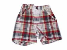 NWT Boy's Gymboree First Play Date plaid red white shorts ~ 12 18 24 months