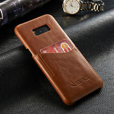 Ultra-thin Leather Wallet Credit Card Slot Back Case Cover For Samsung Galaxy S8