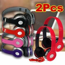 2x Earphone Adjustable Over-Ear 3.5mm Headphone For iPhone MP3 MP4 PC Tablet