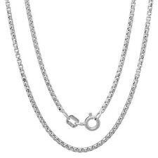 """925 Sterling Silver Round Box chain Necklace for pendant 16"""", 18"""", 20"""" Italy"""