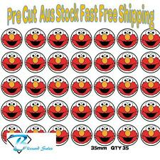 35x Elmo Edible Icing or Wafer Cupcake Toppers 35mm Birthday Cake Decorating