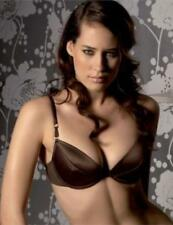 Gossard Superboost Satin Padded Plunge Bra Chocolate 4621 Sexy Lingerie Save 60%