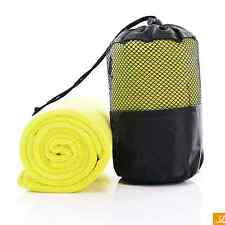 Microfiber Gym Yoga Pilates Towel  For Sport Fitness Swimming In Handy Carry Bag
